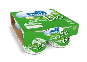 Fromage frais 20% BIO, Malo (4 x 100 g)
