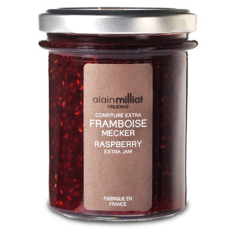 Confiture Extra Framboise Mecker, Alain Milliat (230 g)
