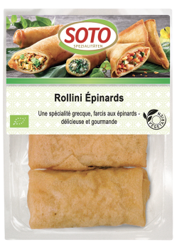 Rollini épinards BIO, Soto (x 3, 150 g)