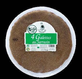 Galettes sarrasin/blé noir BIO, La Crêpière (x 4, 200 g)