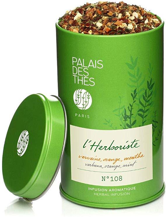 Infusion L'herboriste n° 108 verveine, orange, menthe BIO, Palais des Thés (130 g)