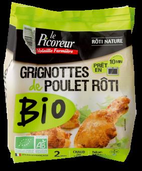 Grignottes de poulet bio rôti nature BIO, Le Picoreur (250 g)