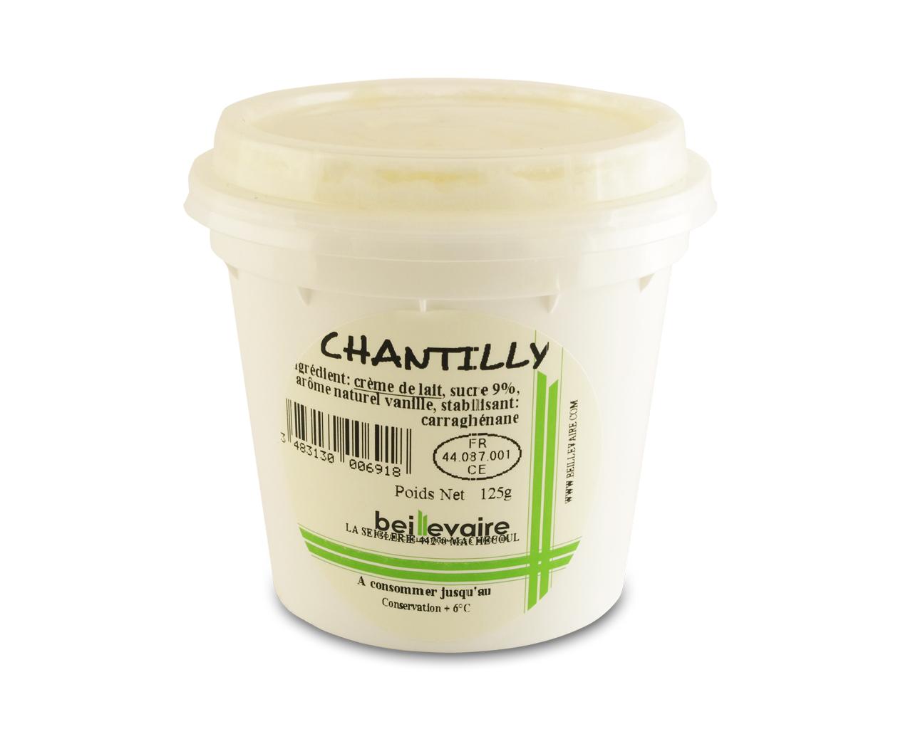 Crème chantilly, Beillevaire (110 g)