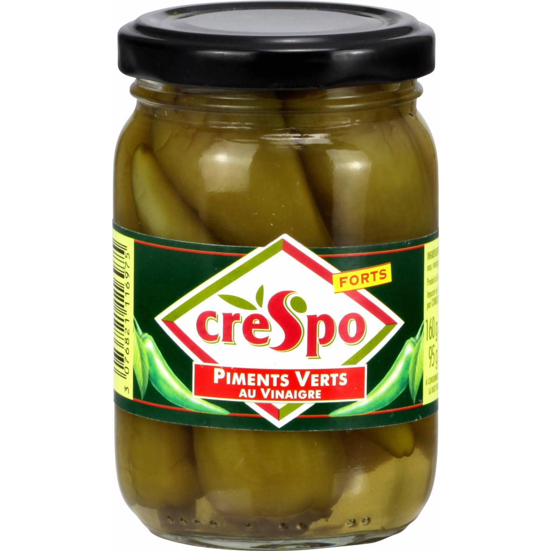 Piments verts au vinaigre en bocal, Crespo (95 g)