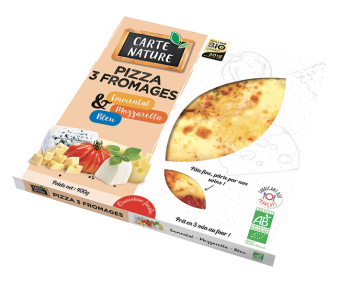 Pizza 3 fromages BIO, Carte Nature (400 g)