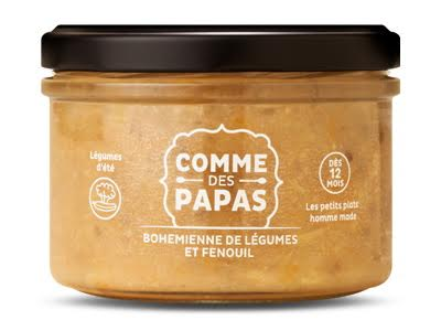 Bohémienne de légumes et fenouil BIO - 12 mois Comme des Papas (200 g)