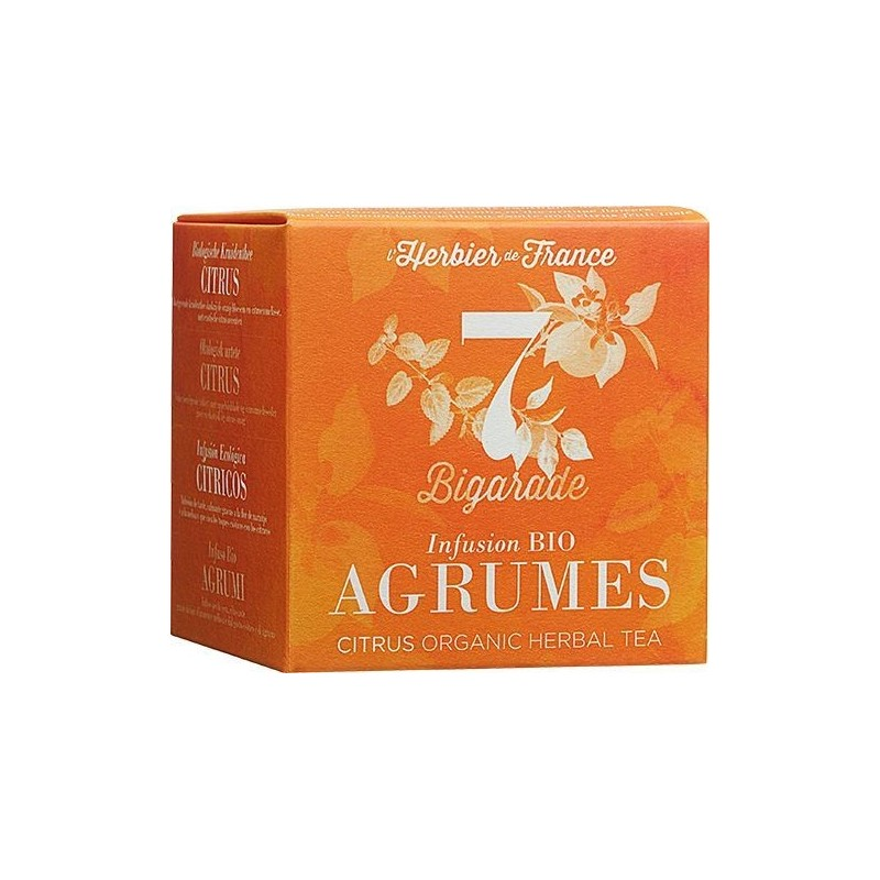 Infusion n°7 Agrumes - Bigarade BIO, Herbier de France (x 15 sachets)