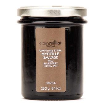 Confiture Extra Myrtille Sauvage, Alain Milliat (230 g)