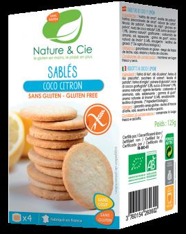 Sablés coco citron, Nature & Cie (125 g)