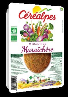 Galettes de céréales maraîchères BIO, Céréalpes (x 2, 180 g)