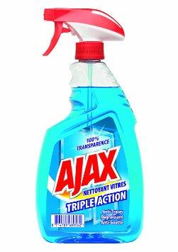 Nettoyant pour vitres triple action en pistolet, Ajax (750 ml)