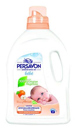 Lessive liquide bébé à l'extrait d'abricot, Persavon (1.5 L)