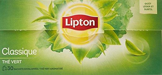 Thé vert nature, Lipton (30 sachets)