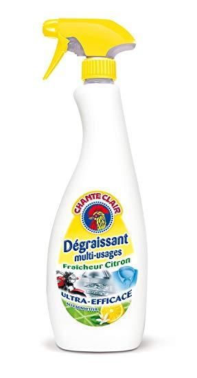 Spray dégraissant savon de Marseille citron, Chanteclair (675 ml)