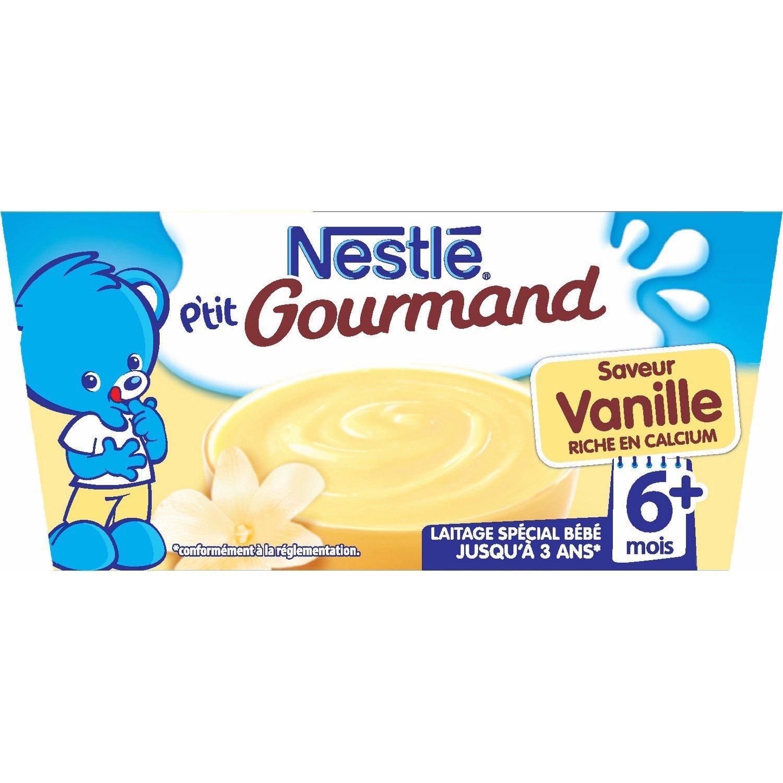 P'tit gourmand vanille - 6 mois, Nestlé (4 x 100 g)
