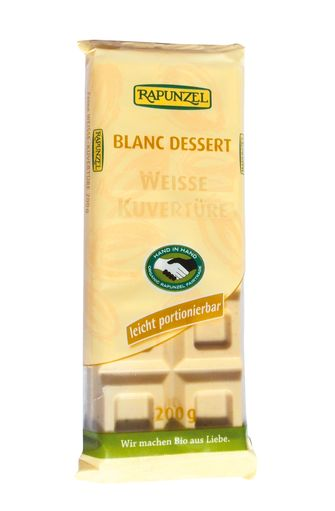 Chocolat blanc dessert BIO, Rapunzel (200 g)