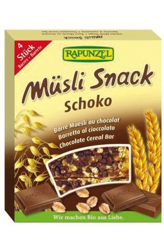 Barre muesli Chocolat BIO, Rapunzel (4 x 29 g)