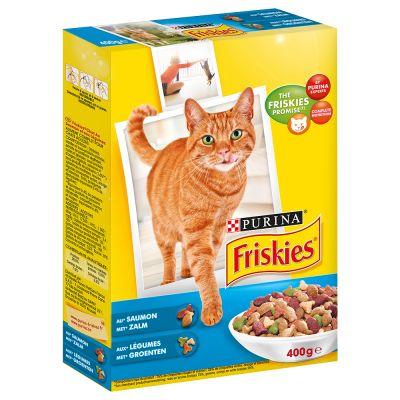 Croquettes pour chat au saumon et aux légumes, Friskies (400 g)