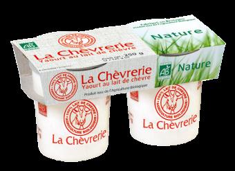 Yaourt nature au lait de chèvre, La Chèvrerie (2 x 125 g)