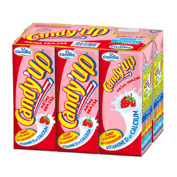 Candy'up à la fraise, Candia (6 x 20 cl)