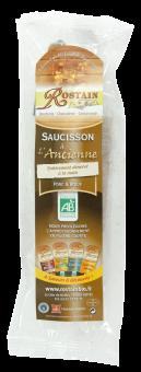 Saucisson à l'ancienne porc/boeuf BIO, Rostain (200 g)