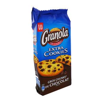 Granola Extra Cookies aux pépites de chocolat, Lu (184 g)