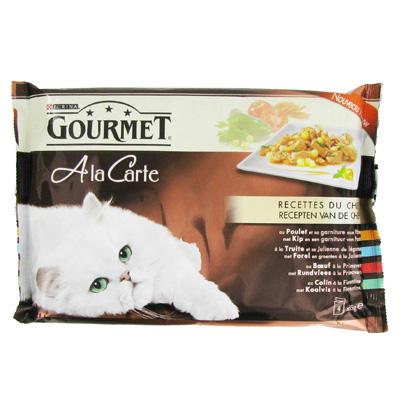 Barquettes pour chats adultes, A la carte, Gourmet Purina (4 x 85 g)