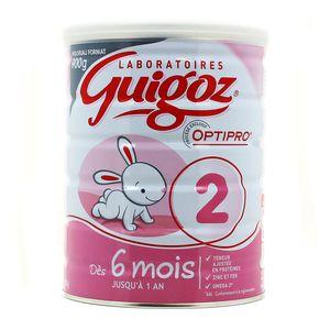 Lait en poudre Guigoz 2ème âge, Optipro (900 g)