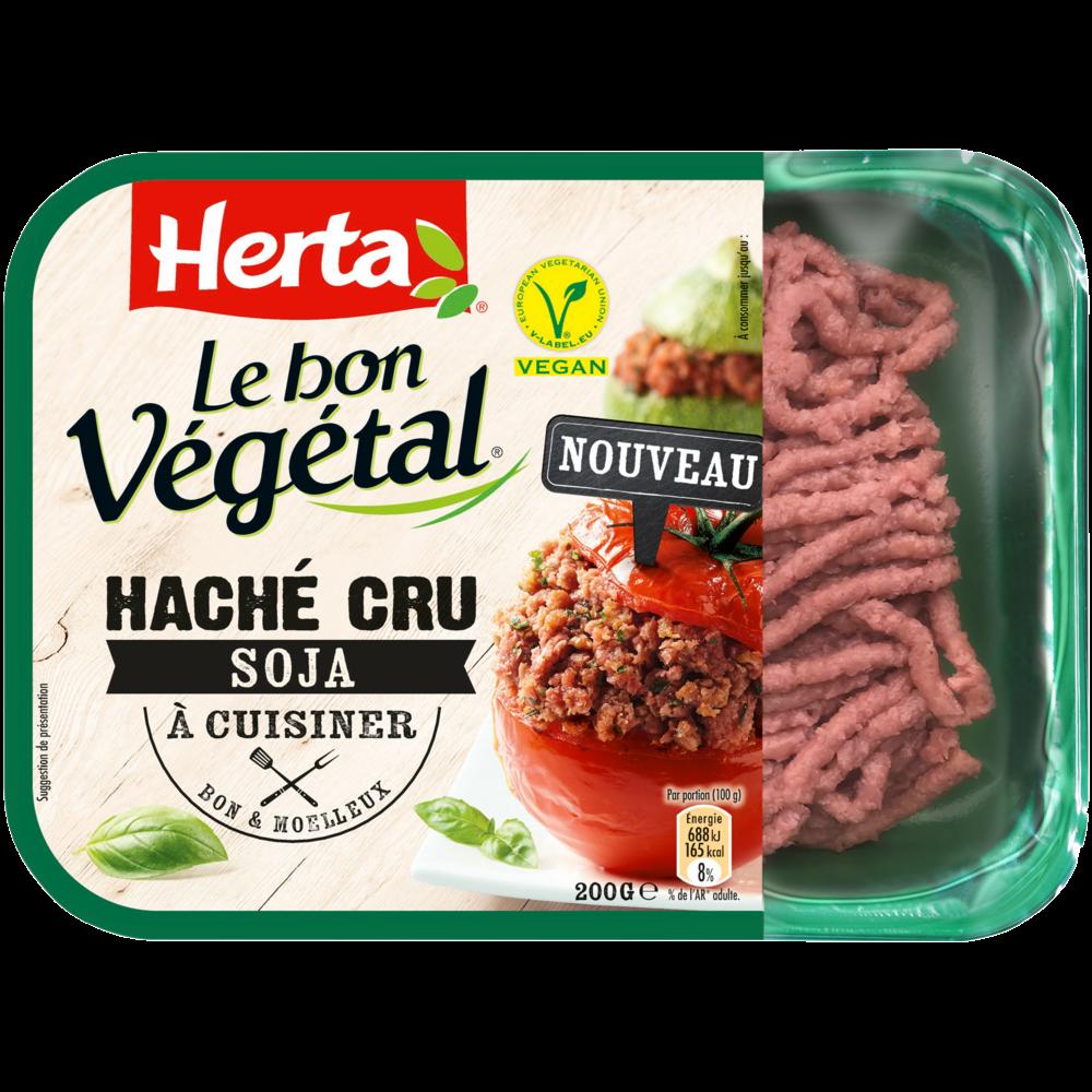 Steak hâché cru de soja Le Bon Végétal, Herta (200 g)