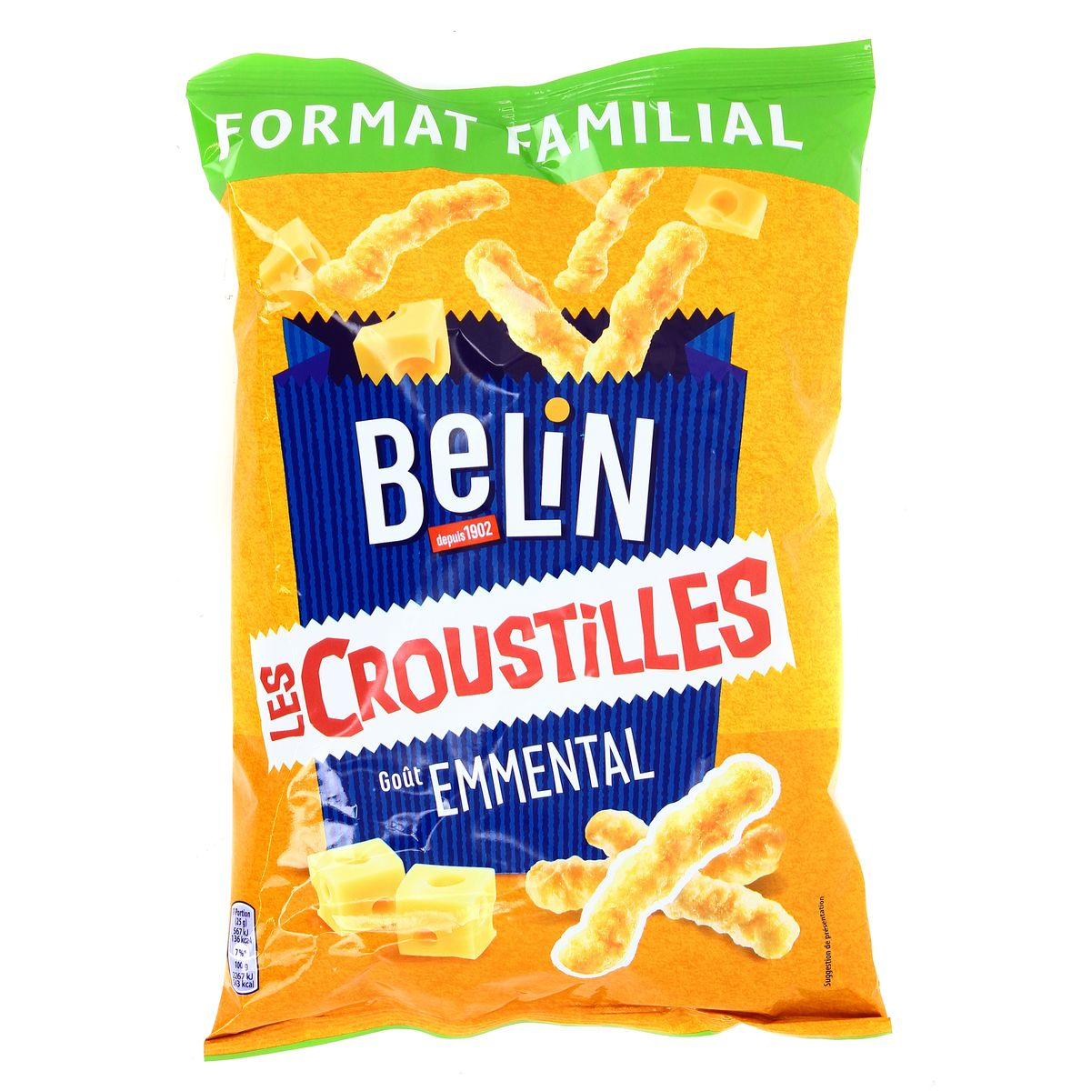 Croustilles goût emmental, Belin (138 g)