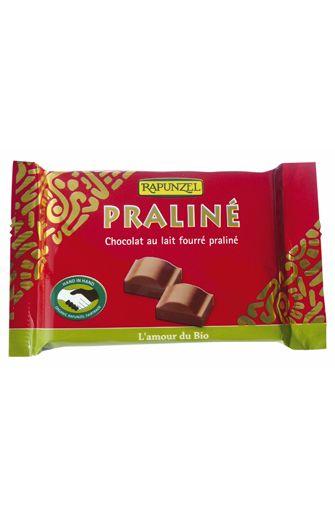 Chocolat au lait fourré praliné BIO, Rapunzel (100 g)