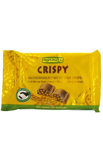 Chocolat au lait et aux crispies BIO, Rapunzel (100 g)