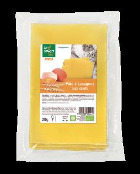 Pâte à lasagne aux oeufs BIO, La Spiga Bio (250 g)