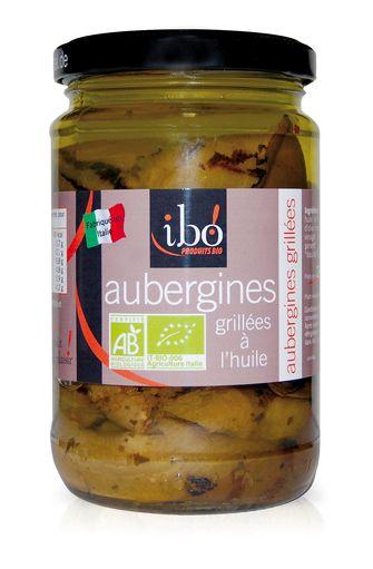 Aubergines grillées à l'huile BIO, Ibo (190 g)