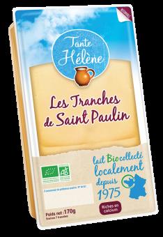 Tranches de Saint-Paulin BIO 22 % MG, Tante Hélène (170 g)