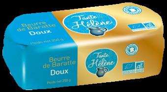 Beurre de baratte moulé doux BIO, Tante Hélène (250 g)
