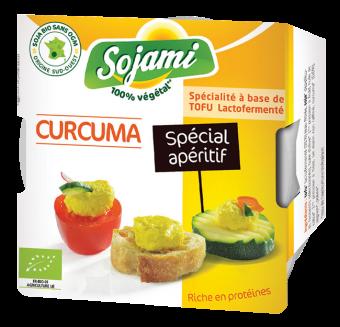 Sojami à tartiner - spécial apéritif - curcuma, Le Sojami (125 g)