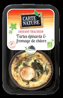 Tartes épinards et fromage de chèvre BIO, Carte Nature (230 g)