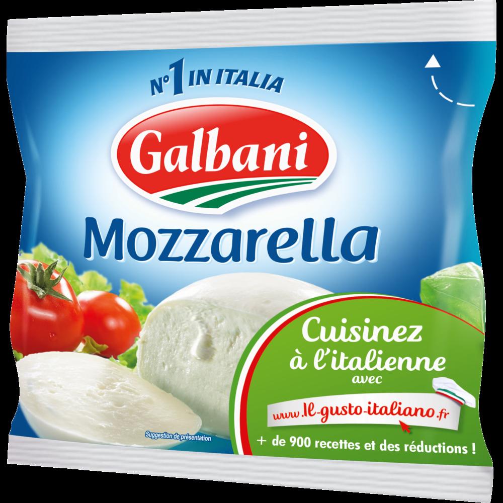Mozzarella au lait pasteurisé, Galbani (125 g)