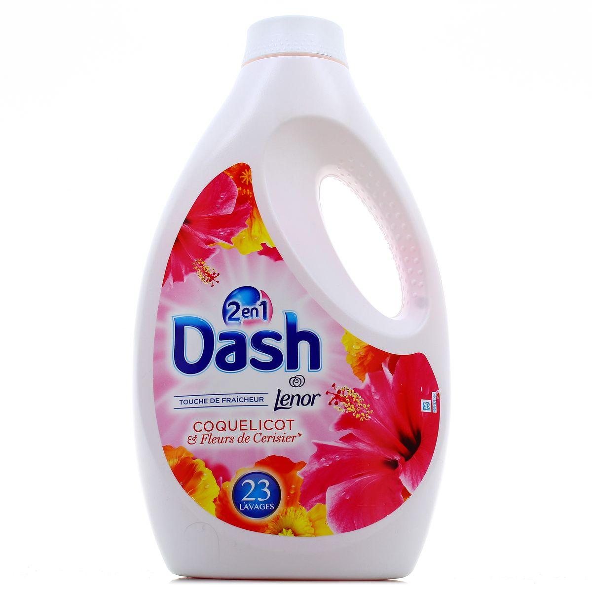 Lessive liquide coquelicot/cerisier 23 doses, Dash (1.265 L)