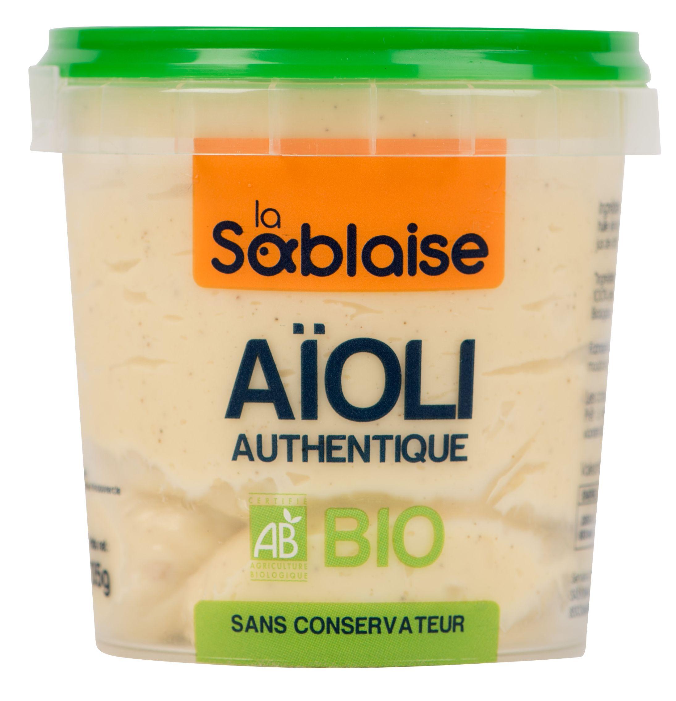 "Sauce aïoli ""authentique"" BIO, La Sablaise (135 g)"