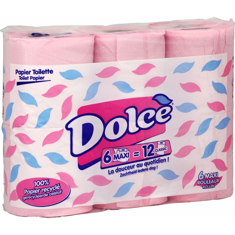 Papier toilette rose, Dolce (x 6)