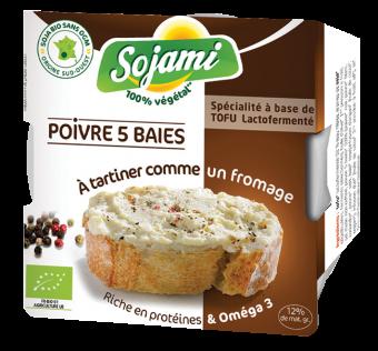 Sojami à tartiner poivre 5 baies, Le Sojami (125 g)