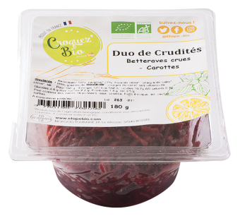 Duo de carottes et betteraves crues BIO, Etape Bio (160 g)