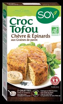 Croc tofou chèvre, épinards et graines de pavot BIO, Soy (200 g)