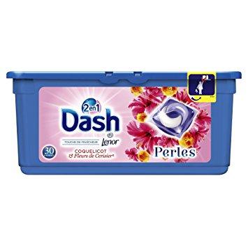 Lessive écodose coquelicot & fleurs de cerisiers, Dash (x 19)