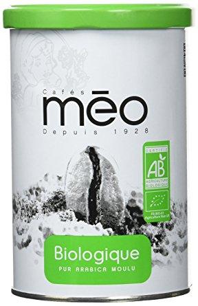 Café moulu en boîte BIO, Meo (250 g)