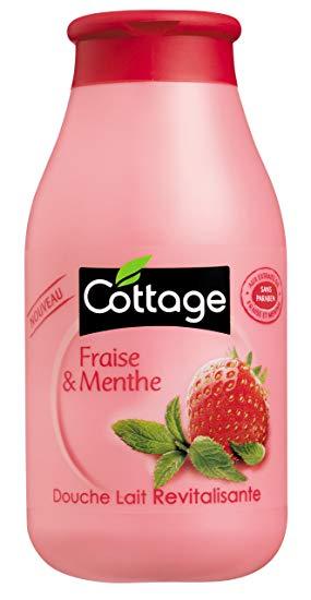 Douche Lait revitalisante fraise/menthe, Cottage (250 ml)