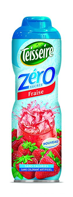 Sirop de fraise 0%, Teisseire (60 cl)