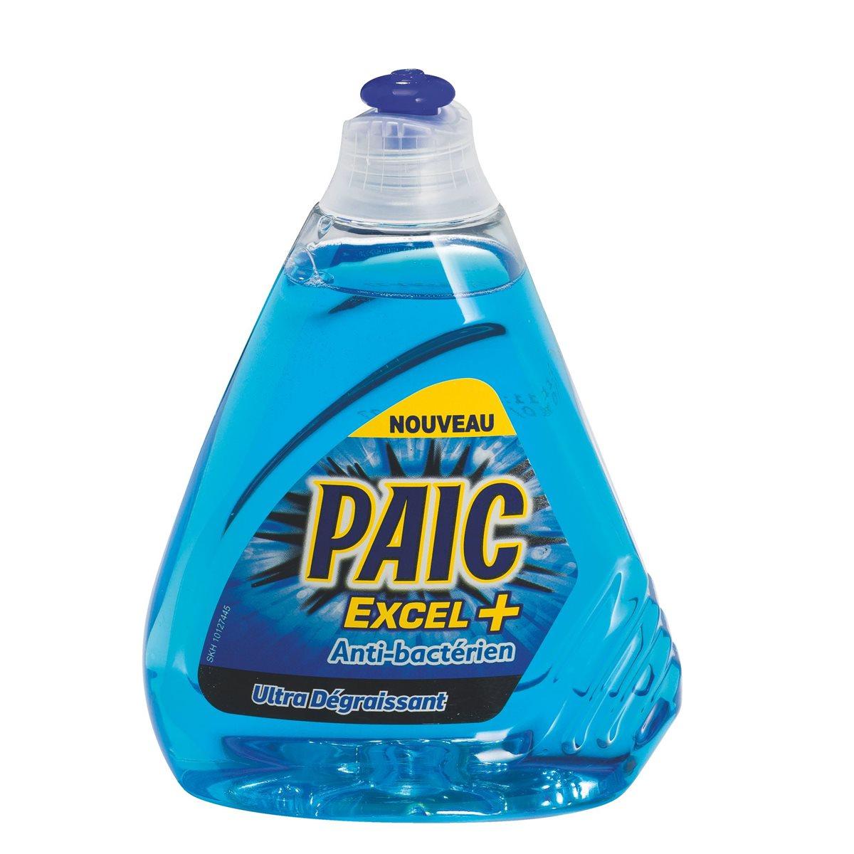 Liquide vaisselle Excel + Antibactérien, Paic (500 ml)